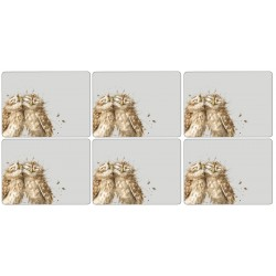 6 Owl placemats by Wrendale