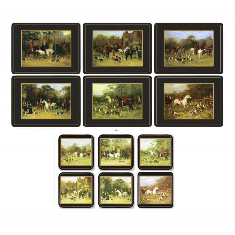 Pimpernel Tally Ho 6 tablemats and 6 coasters