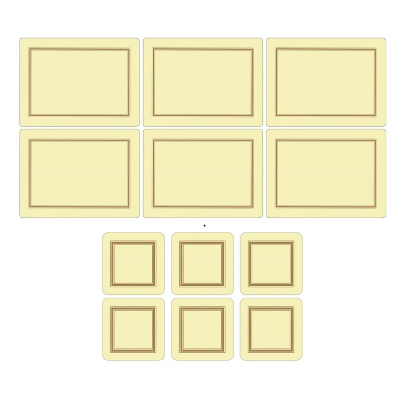 Pimpernel Classic Cream 6 tablemats and 6 coasters