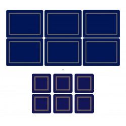 Pimpernel Classic Midnight Blue 6 tablemats and 6 coasters