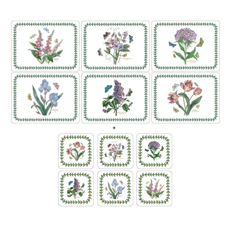 Pimpernel Botanic Garden 6 tablemats and 6 coasters corkbacked