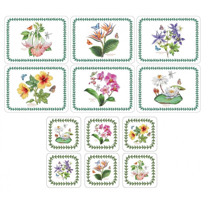Exotic Botanic Garden 6 tablemats and 6 coasters Pimpernel Portmeirion