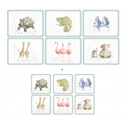 Wrendale Zoological 6 tablemats and 6 coasters pack