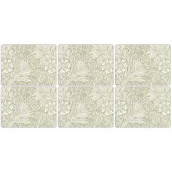 Morris and Co Marigold Green 6 Pimpernel table mats