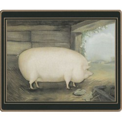 Pig design from the Lady Clare Traditional Naive Animals Placemats set
