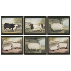 Lady Clare Traditional Placemats Naive Animals all six