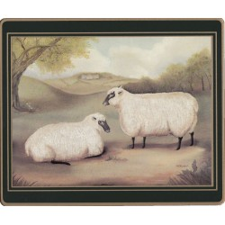 Sheep design from the Lady Clare Traditional Naive Animals Placemats collection