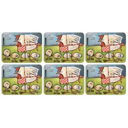 Set of 6 Plymouth Pottery Mother Hen Tablemats