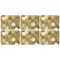 Set of 6 Plymouth Pottery Golden Repeat Tablemats