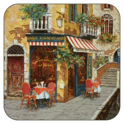 Plymouth Pottery Cafe Scene Coasters
