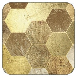 Plymouth Pottery Golden Repeat drinks Coasters