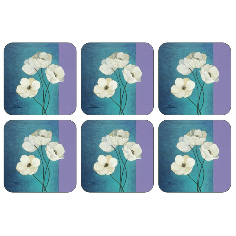 Set of six Plymouth Pottery Timeless drinks Coasters