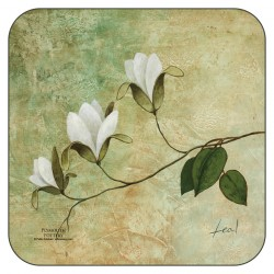 Plymouth Pottery Ivory Blossom drinks Coasters