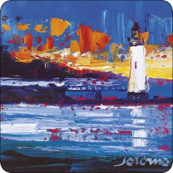 LIghthouse design by JoLoMo - set of 4 square tablemats from the Isle of Mull