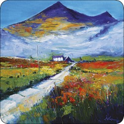 Landscape scene by JoLoMo - set of 4 square tablemats from the Isle of Mull