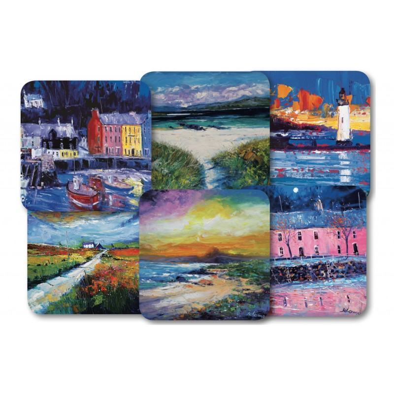 JoLoMo set of 6 square tablemats - assorted designs of the Isle of Mull & iona