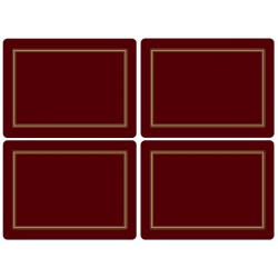 Pimpernel Classic Burgundy Large Placemats - all 4