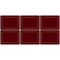 Pimpernel Classic Burgundy placemats - all six