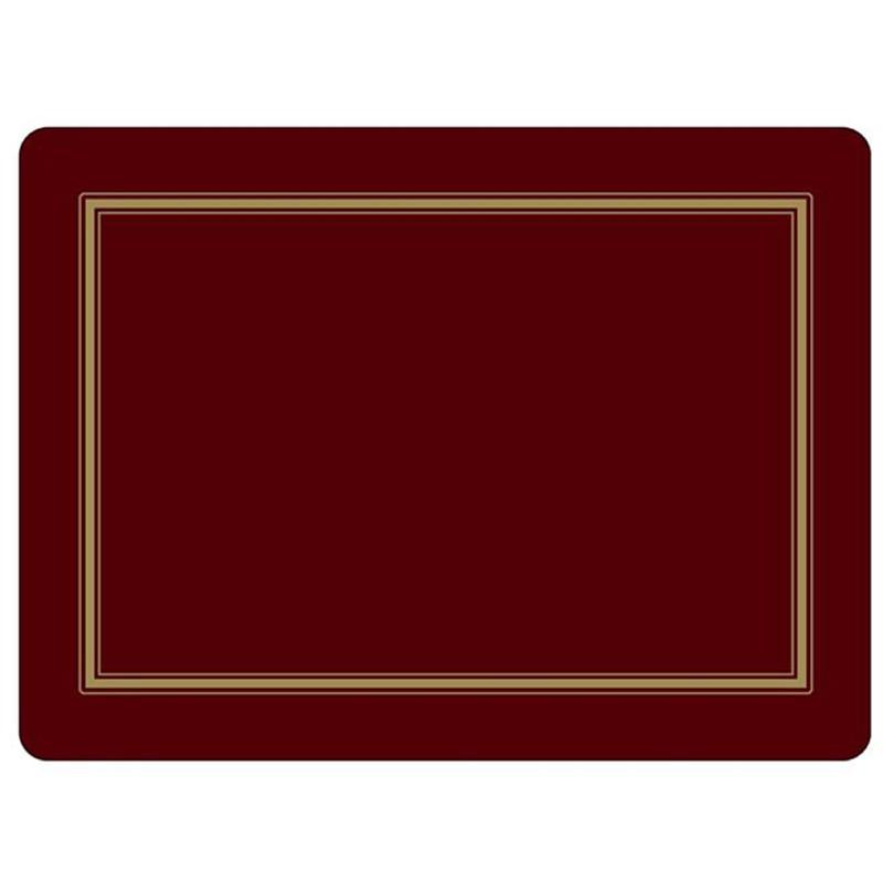 Pimpernel Classic Burgundy placemats - single mat