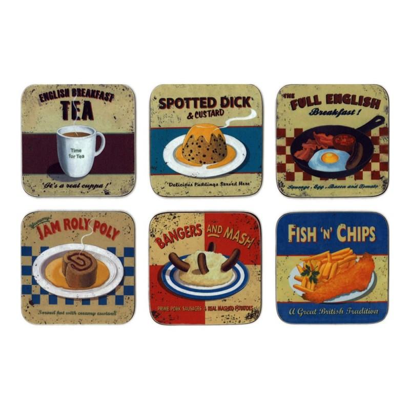 Castle Melamine Nostalgic Food Coaster