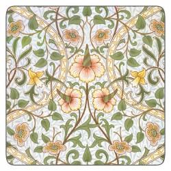 Castle Melamine William Morris Daffodil coasters