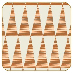 Pip Pittman Triangles Orange Coasters