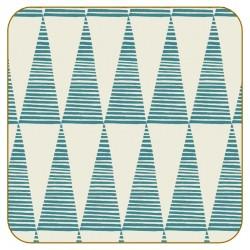 Pip Pittman Triangles Teal Coasters