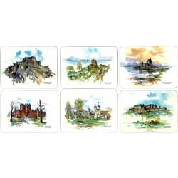 Castle Melamine Scottish Castles Tablemats