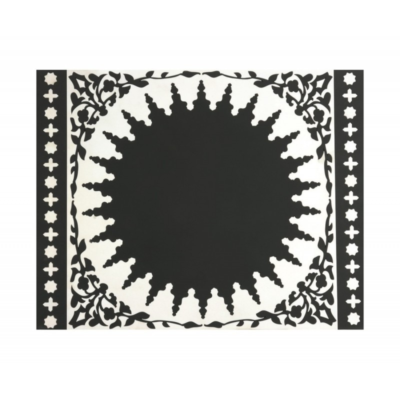 DOrient Mosaic Black and white Silicone Placemats