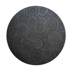 DOrient Urban Carbon Silicone Round Placemats