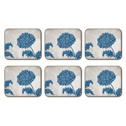 Jason Chrysanthemum Blue Coasters
