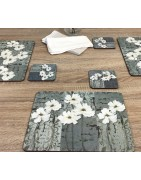 Classic Floral Themed Placemats and Tablemats