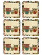 Pimpernel Coasters, Cork Backed, Traditional Range